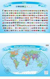 Podkład dwustronny z mapą - świat polityczny