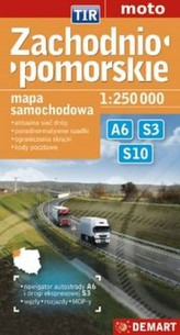 Małopolskie TIR mapa samochodowa 1:250 000