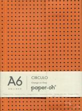Notatnik A6 Orange on Grey