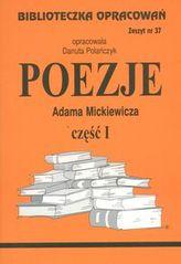 Biblioteczka Opracowań Poezje Adama Mickiewicza część I