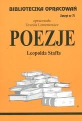 Biblioteczka Opracowań Poezje Leopolda Staffa