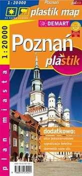 Poznań plastik - plan miasta laminowany