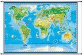 Mapa ścienna świata młodego odkrywcy
