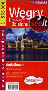 Węgry + okolice Balatonu See It 1:555 000