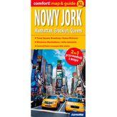 Nowy Jork. Manhattan, Brooklyn, Queens 2w1:przewodnik+mapa