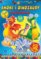 Smoki i dinozaury. Kolorowanka