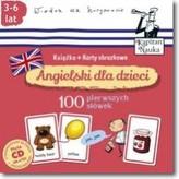 Kapitan nauka. Angielski dla dzieci 100 pierwszych słów Książka + karty obrazkowe