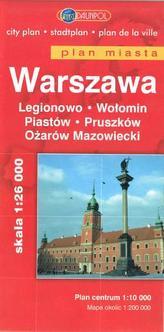 Plan miasta Warszawa. Skala 1:26 000