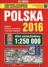 Atlas samochodowy Polska 2016 1:250 000