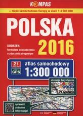 Atlas samochodowy Polska 2016 1:300 000