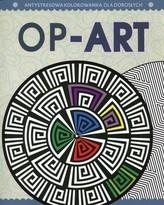 Antystresowa kolorowanka dla dorosłych.  Op-Art