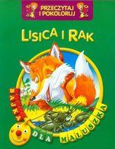Lisica i rak Przeczytaj i pokoloruj