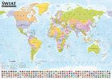 Świat Mapa polityczna i krajobrazowa listwa aluminiowa