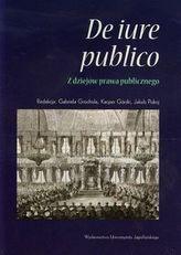 De iure publico Z dziejów prawa publicznego