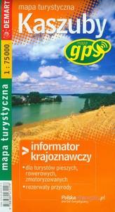 Kaszuby mapa turystyczna