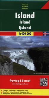 Islandia mapa 1:400 000