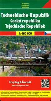 Czechy mapa drogowa 1:400 000