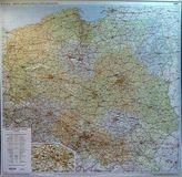 Polska - Mapa administracyjno-drogowa. Ścienna 2015