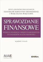 Sprawozdanie finansowe według polskich i międzynarodowych standardów rachunkowości