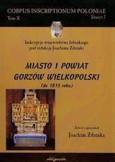 Miasto i powiat Gorzów Wielkopolski do 1815 roku Tom 10