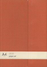 Zeszyt A4 Paper-oh Circulo w linie 56 kartek Orange on Grey