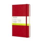 Notes L Moleskine Classic czerwony gładki
