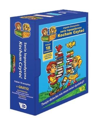 Kocham czytać. Pakiet 18 zeszytów + poradnik + kolorowanka