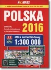 Atlas samochodowy Polska 2017 1:300 000