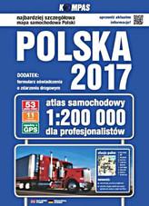Atlas samochodowy Polska 2017 dla profesjonalistów 1:200 000