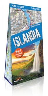 Mapa - Islandia map&guide  Laminat