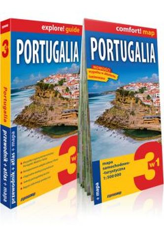 Portugalia. 3w1. Przewodnik. Mapa. Atlas (komplet)