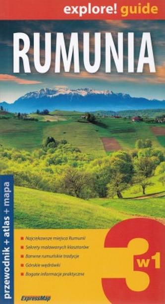 Rumunia 3w1. Przewodnik. Mapa. Atlas (komplet)
