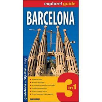 Barcelona 3w1 Przewodnik + mapa + plan miasta