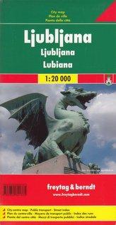 Ljubljana plan miasta 1:20 000