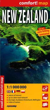 Mapa turystyczna. New Zealand 1:1000