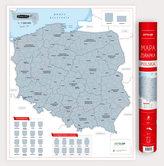POLSKA MAPA ZDRAPKA 1:1 500 000
