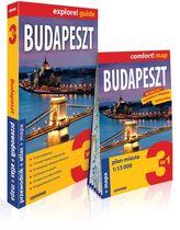 Budapeszt 3w1: przewodnik + atlas + mapa
