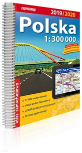 Polska. Atlas samochodowy 2019/2020, 1:300 000