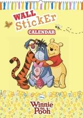 Medvídek Pú se samolepkami na zeď - nástěnný kalendář