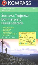 Šumava, Trojmezí 1:50 000             MPMarco Polo,s.r.o.Mapa978-3-502-6131-9
