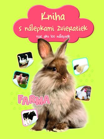 Kniha s nálepkami zvieratiek Farma